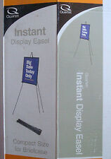 "Quartet 64"" tall Instant Display Easel 29E briefcase size storage black steel"