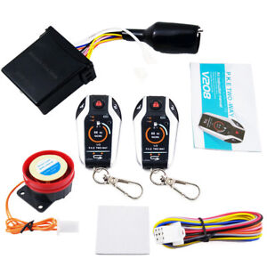 2 Way Motorcycle Vibration Alarm Remote Engine Start Security Anti-theft System