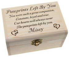 Personalised Pet Urn Memory Box Handmade Wooden Pet Memorial Ashes Lead Keepsake