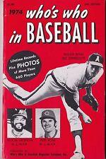 1974 Who's Who in Baseball Guide Nolan Ryan Pete Rose Reggie Jackson on Cover