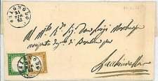 SARDEGNA - BUSTA da CHIGNOLO PO a LACHIARELLA 9 pu nti!1863