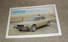 Datsun Nissan Skyline 240K Coupe Brochure 1979