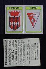***CALCIATORI PANINI 1986/87*** SCUDETTO SORRENTO/TERAMO N.553 - NUOVO!!!