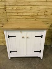 Solid Pine Freestanding Kitchen Handmade Cupboard Oak Top Rustic  Centre Island