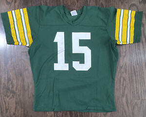 Vintage Green Bay Packers NFL Football Bart Starr #15 Jersey Mens Large Rawlings