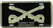 US ARMY CAVALRY HIGH QUALITY METAL LICENSE PLATE - MADE IN THE USA!