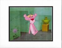 Pink Panther Pink-lined SIGNED production animation cel 1978 DePatie Freleng cm