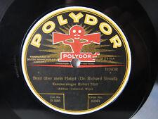78rpm RICHARD STRAUSS (PIANO) accompanies ROBERT HUTT ! Polydor VERY RARE !