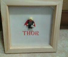 NEW HANDMADE SUPER HERO MARVEL THOR LEGO MINI FIGURE PICTURE FITS LEGO) SCRABBLE