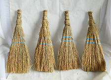 VINTAGE 1 pc Hand Made Small 12'' NATURAL CORN HAND WHISK BROOM - country decor