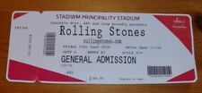 ROLLING STONES USED CONCERT TICKET. PRINCIPALITY STADIUM CARDIFF. 15TH JUNE 2018
