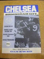 08/09/1979 Chelsea v Birmingham City  (Small Rip On Back Cover). Trusted sellers