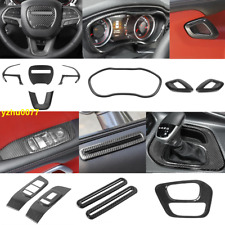 2015-2019 For Dodge Challenger Carbon fiber Look Car interior Kit Cover Trim *12