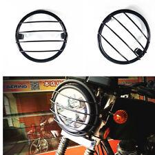 Motorcycle Vintage Headlight Grill Side Mount Cover For Honda Yamaha Kawasaki