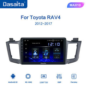 Dasaita Car Radio For Toyota RAV4 12-2017 WIFI 10.2 Inch Navigation GPS Sat WIFI