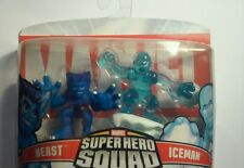 NEW 2007 Marvel Super Hero Squad 2 Pack -RARE X-Men Beast & Iceman ~Fast Ship!
