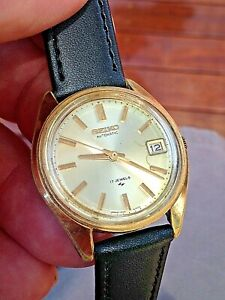 Men's VERY RARE VINTAGE 1969 SEIKO 7005A 17 JEWELS CAL 789 AUTOMATIC G/P Watch