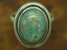 925 Sterling Silver Ring with Turquoise Decorations/Real Silver/Rg 55/6,5g