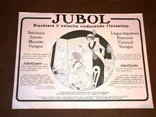 Pubblicità epoca per collezionisti del 1918 Jubol per equilibrio dell'intestino