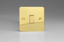 VARILIGHT 1 Gang 1 or 2 Way 10a Rocker Light Switch Ultra Flat Polished Brass