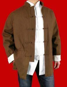 Premium Linen Kung Fu Martial Arts Tai Chi Jacket Coat XS-XL Tailor Custom Made