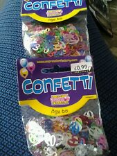 2 bags of 60 birthday confetti brand new unopened