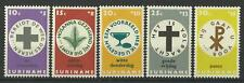 SURINAME1968 EASTER CHARITY SET MINT