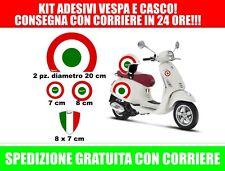 kit adesivi per vespa bandiera italia! anche per casco! Spedizione con corriere!
