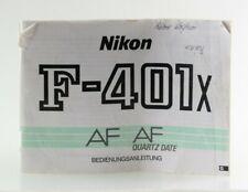 Bedienungsanleitung Nikon F-401x F 401 x F401x AF Quartz Date Anleitung