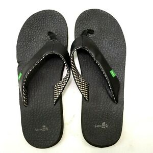 Sanuk Damen Yoga Matte Schwarz Strand Wasser Tanga Sandalen Schuhe Größe US 9 Eu