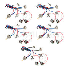 Guitar Wiring Harness Kit 2V2T Pot Jack 3 Way Switch for Guitar Parts 5 Set