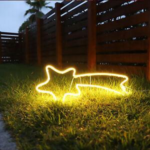 Neon Licht Sternschnuppe 70x30 cm - 240 LED - Lichtschlauch Weihnachtsdeko Außen