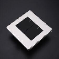 2Gang 2Way LED Indicator Wall Push ButtonSwitch Light Control Black 10A