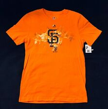 New Majestic MLB San Francisco Giants Boys Youth Orange Fire Logo Size L 14/16