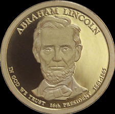 """2010 S Abraham Lincoln Presidential Dollar Gem Deep Cameo """"PROOF"""" US Mint Coin"""