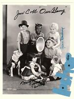 JEAN DARLING Hal Roach Our Gang JOE COBB signed photo autograph 3 Little Rascals