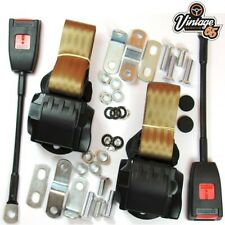 Classic VW Front Pair Fully Automatic Inertia Beige Seat Belt Kits E Approved