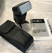 Minolta Maxxum 3600HS D Program  Flash for Minolta Sony, Near Mint ,with Manual