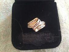 Vintage Ladies 10k Gold And Diamond Ring...size 7 3/4...4  grams
