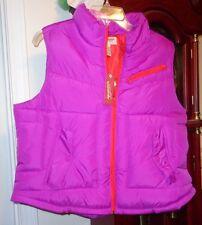 2XL XXL NWT Ladies Womens Arizona Jeans Co Vest Purple Zip Pockets Quilted