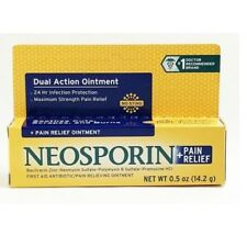 Neosporin Plus Pain Relief Maximum Strength First Aid Antibiotic Ointment 0.5 oz