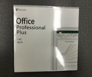 Microsofto Professional Plus 2019 for 1 Computer DVD or 1 Computer KEY