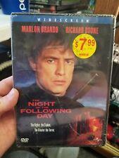 THE NIGHT OF THE FOLLOWING DAY DVD / MARLON BRANDO RICHARD BOONE