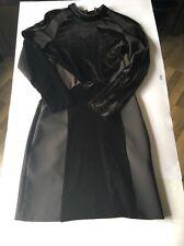 zara black dress m