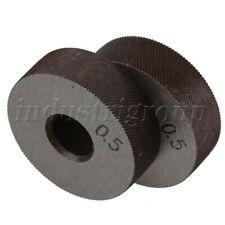 2PCS 26x9mm Steel Diagonal 0.5mm Pitch Linear Knurl Wheel Knurling Roller Tool