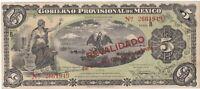 Paper Money - Mexico - Gobierno - 12-10-1914 - 5 Pesos - P-5702b - M1240D - EF