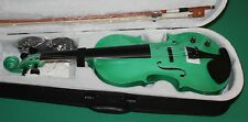 VIOLINO ELETTRO-ACUSTICO METAL LIGHT GREEN V-11EQ 4/4 NEW ORLEANS