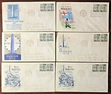 Lot of 6 (six) Vintage 1959 Bunker Hill Coil US Postage First Day Stamp Covers