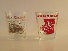 Vintage Arkansas Map  and Hot Springs National Park Bath House Row Shot Glass