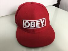 Authentic OBEY 6 Panel Cap In Red. White Branding. Excellent Condition. One Size